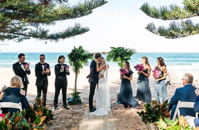 whale beach boho beach wedding