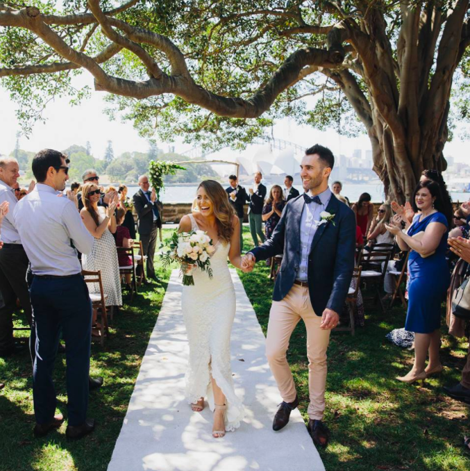 Royal Botantic Garardens – ceremony under gorgeous old fig tree